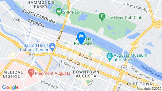 Augusta Marriott at the Convention Center Map
