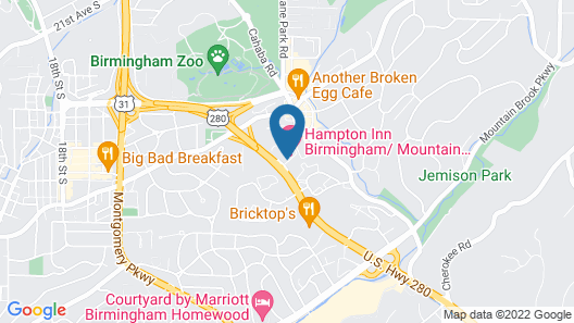 Hampton Inn Birmingham/Mountain Brook Map