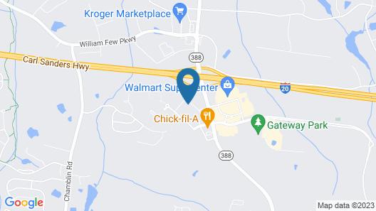 avid hotel Augusta W - Grovetown Map