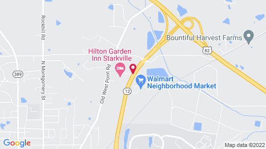 Hilton Garden Inn Starkville Map
