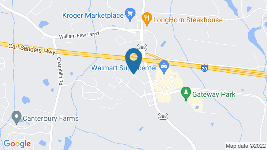 Home2 Suites by Hilton Grovetown Augusta Area Map