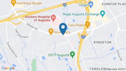 Days Inn by Wyndham Augusta Wheeler Road Map