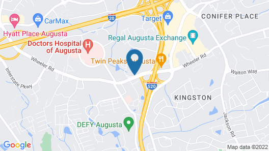 Affordable Suites Augusta Map