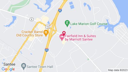 Hampton Inn Santee-I-95 Map