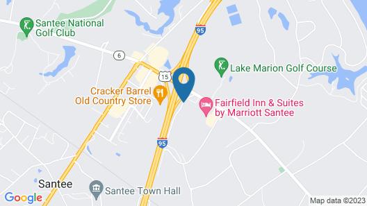Clarion Inn Santee I-95 Map