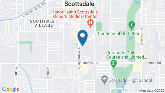 Holiday Inn Express Hotel & Suites Scottsdale - Old Town, an IHG Hotel Map
