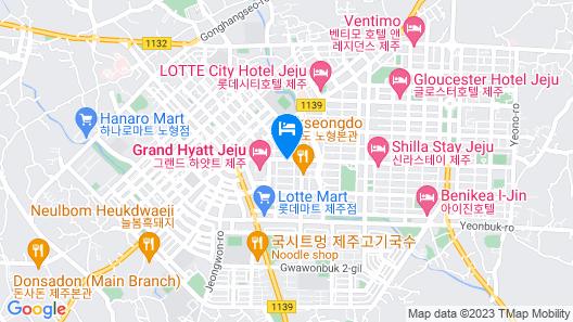 Hotel With Jeju Map