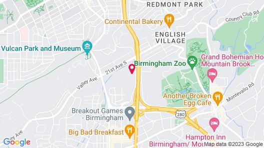 Embassy Suites Hotel Birmingham Map