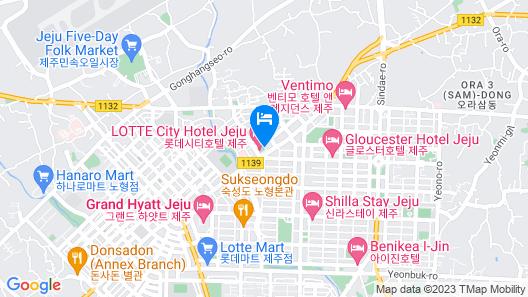 Lotte City Hotel Jeju Map