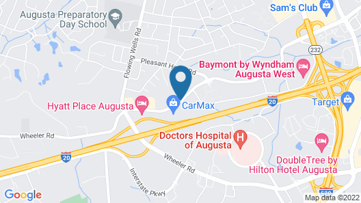 Hyatt Place Augusta Map