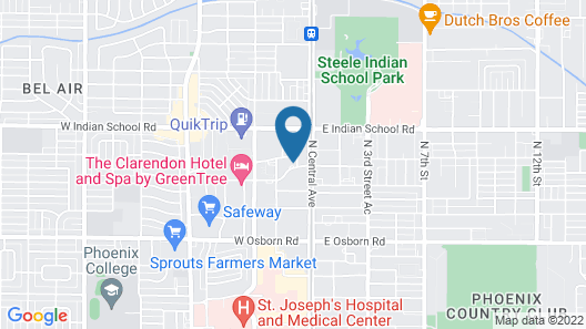 Hilton Garden Inn Phoenix Midtown Map