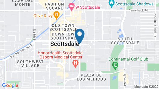 The Saguaro Scottsdale Map