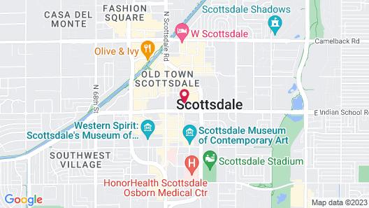 Hilton Garden Inn Scottsdale Old Town Map