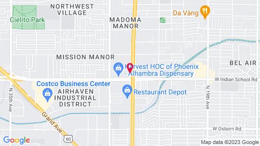 Red Roof Inn Phoenix - Midtown Map