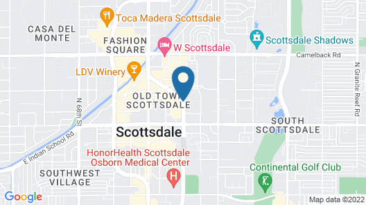 HYATT house Scottsdale/Old Town Map