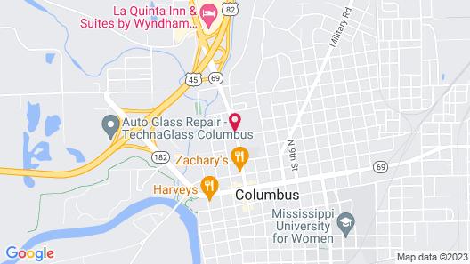 Columbus Inn & Suites Map