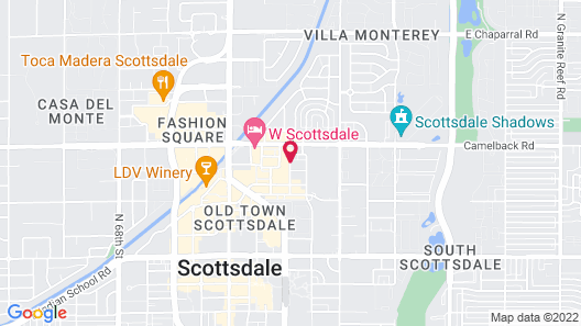 Aloft Scottsdale Map