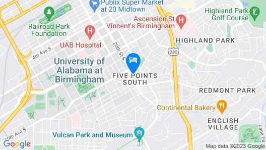 Hotel Indigo Birmingham Five Points S - UAB Map