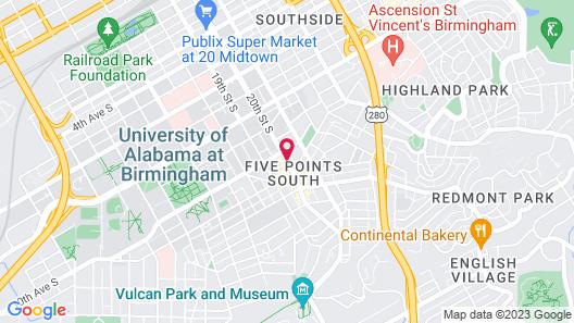 Homewood Suites by Hilton Birmingham Downtown Near UAB Map