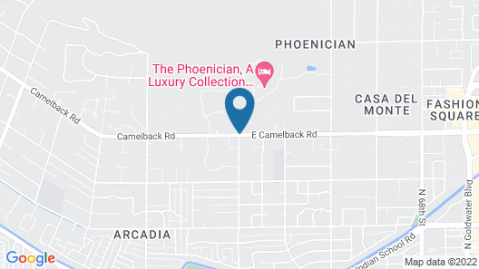 The Canyon Suites at The Phoenician, Luxury Collection Map