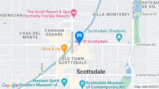 W Scottsdale Map