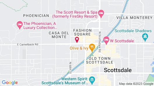 Motel 6 Scottsdale, AZ Map
