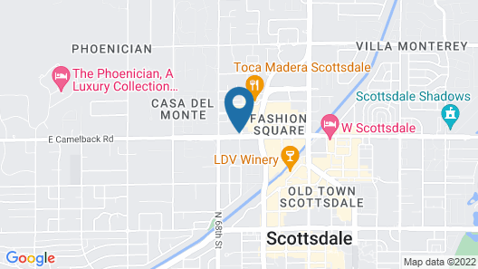 Motel 6 Scottsdale, AZ Map
