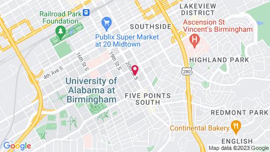 Residence Inn by Marriott Birmingham Downtown at UAB Map
