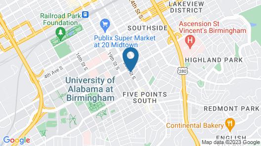 Hilton Birmingham at UAB Map