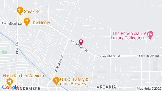 Royal Palms Resort and Spa, part of Hyatt Map