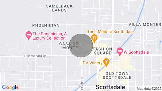 Wanderjaunt Francis 2BR Townhouse Old Town Scottsdale Map