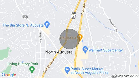 Cozy apartment overlooking the night lights of Augusta. Small but big on comfort Map