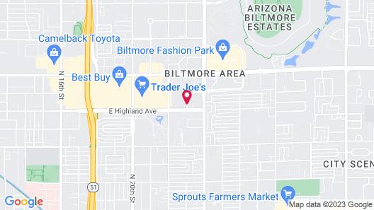 Hampton Inn Phoenix-Biltmore Map
