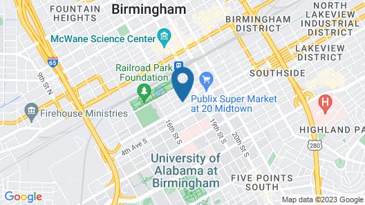 Home2 Suites by Hilton Birmingham Downtown Map