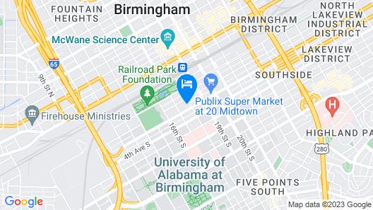 Hilton Garden Inn Downtown Birmingham Map