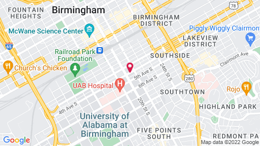 SpringHill Suites Birmingham Downtown at UAB Map
