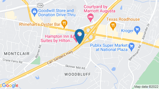 Hampton Inn & Suites by Hilton Augusta-Washington Rd Map