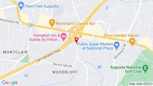 Motel 6 Augusta, GA Map