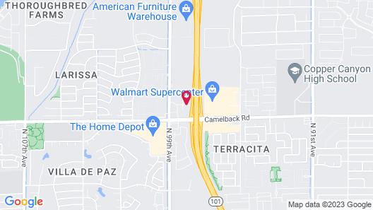 Comfort Suites Glendale - State Farm Stadium Area Map