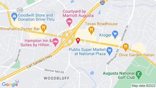Knights Inn Augusta at Boy Scout Rd Map