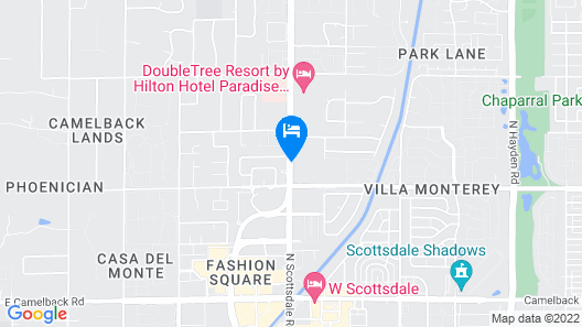 Hotel Adeline, Scottsdale, a Tribute Portfolio Hotel Map