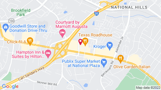 Quality Inn & Suites Augusta I-20 Map