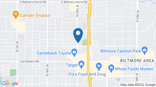 Extended Stay America Suites Phoenix Biltmore Map