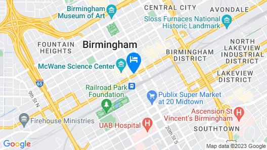 Fairfield Inn & Suites by Marriott Birmingham Downtown Map