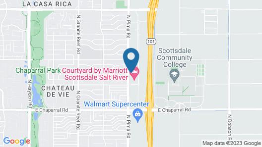 Residence Inn Scottsdale Salt River Map