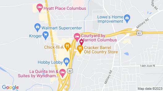 Hampton Inn & Suites Columbus,  MS Map