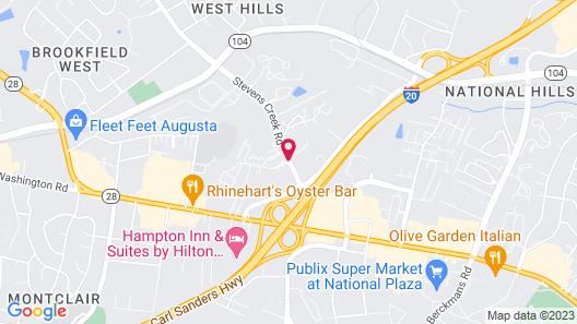 Sheraton Augusta Hotel Map