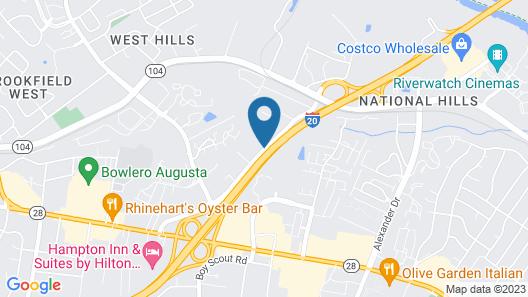 Best Western Plus Augusta North Inn & Suites Map