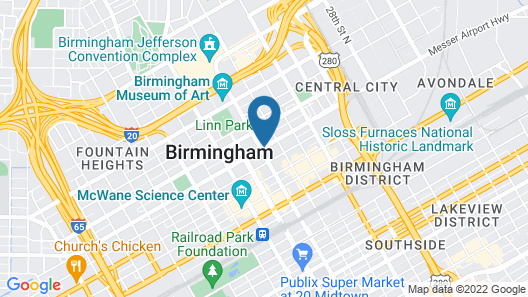 Redmont Hotel Birmingham, Curio Collection by Hilton Map