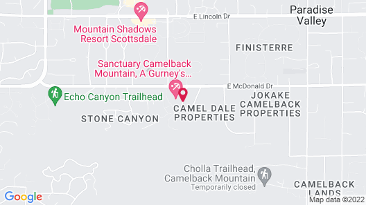 Sanctuary on Camelback Mountain Resort and Spa Map